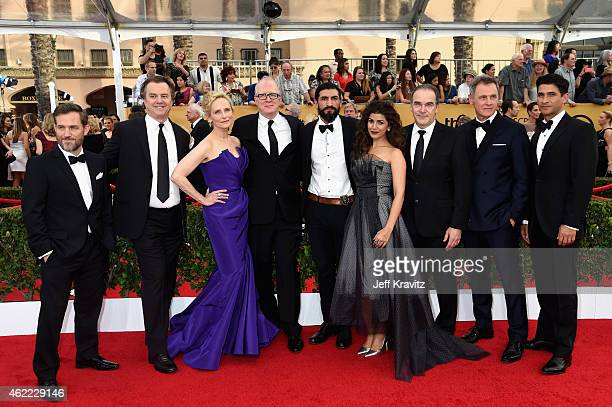 Actors Maury Sterling Michael O'Keefe Laila Robins Tracy Letts Numan Acar Nimrat Kaur Mandy Patinkin Mark Moses and Raza Jaffrey of 'Homeland' attend...
