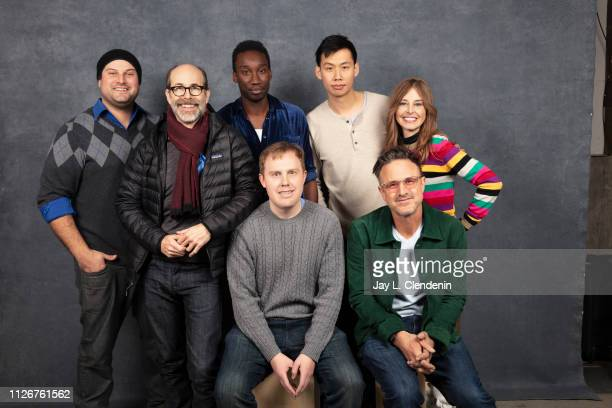 Actors Max Adler Brian Huskey Nathan StewartJarrett Lucas Heyne David Arquette Kelly Sry and Tonya Cornelisse from 'Mope' are photographed for Los...
