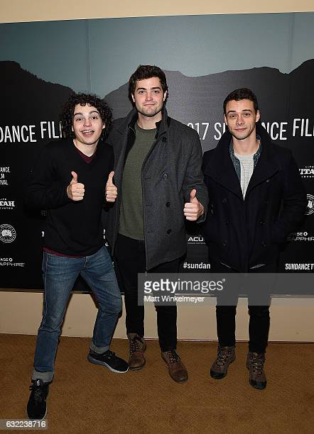Actors Max Burkholder Ben Winchell and Adam Long attend the Independent Pilot Showcase during day 2 of the 2017 Sundance Film Festival at Egyptian...