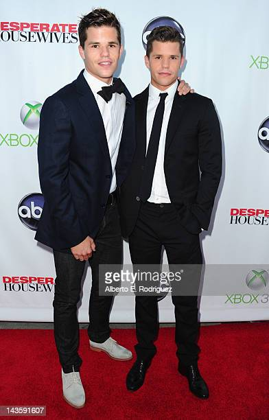 Actors Max Carver and Charlie Carver arrive to the Series Finale of ABC's 'Desperate Housewives' at W Hollywood on April 29 2012 in Hollywood...