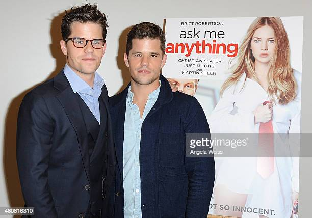 Actors Max Carver and Charlie Carver attend the screening of 'Ask Me Anything' at Clarity Theater on December 17 2014 in Beverly Hills California