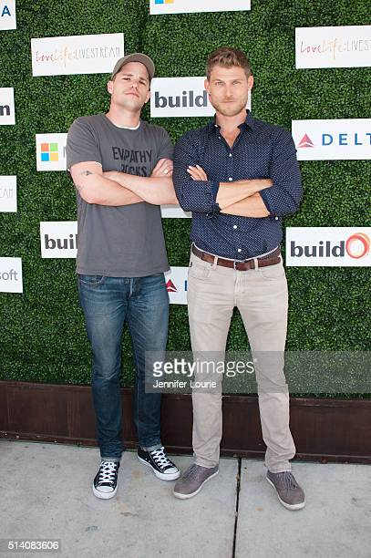 Actors Max Carver and Travis Van Winkle arrive at the 2nd Annual LoveLife Fundraiser to support buildOn hosted by Travis Van Winkle at the Microsoft...