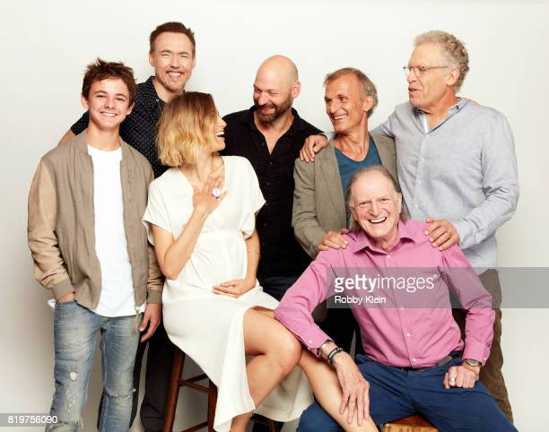 Actors Max Charles, Kevin Durand, Ruta Gedmintas, Corey Stoll, Richard Sammel, David Bradley and writer/producer Carlton Cuse from FX's 'The Strain'...