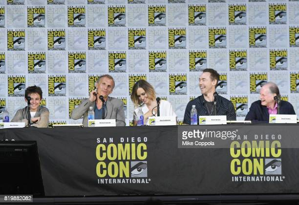 """Actors Max Charles, Richard Sammel, Ruta Gedmintas, Kevin Durand, and David Bradley speak onstage at """"The Strain"""" screening and Q+A during Comic-Con..."""