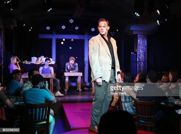 Actors Max Ehrich Jonah Platt Lana McKissack Anna Grace Barlow Jimmy Ray Bennet and Garrett Clayton perform onstage at The Fuse Project's...