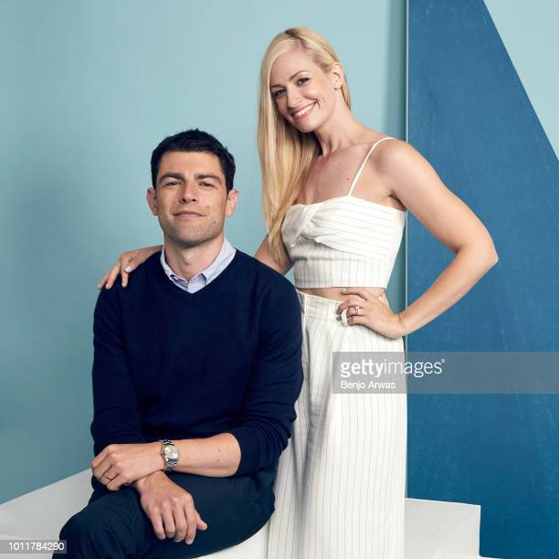 Actors Max Greenfield and Beth Behrs of CBS's 'The Neighborhood' pose for a portrait during the 2018 Summer Television Critics Association Press Tour...