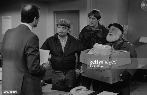 Actors Max Harvey David Jason Nicholas Lyndhurst and Buster Merryfield in a scene from episode 'The Longest Night' of the BBC television series 'Only...