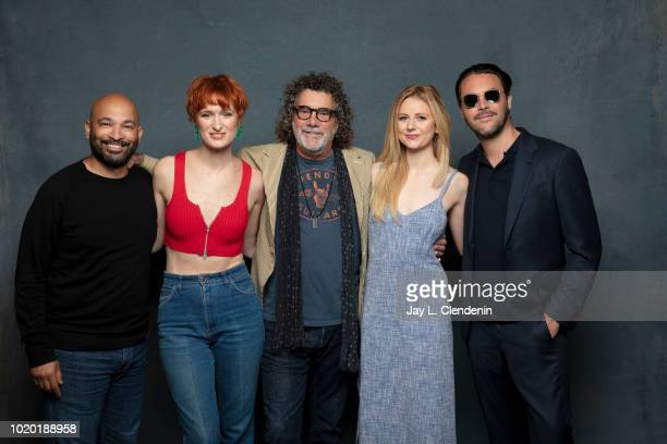 Actors Max Hernandez, Breeda Wool, director Jack Bender, Justine Lupe and Jack Huston from 'Mr. Mercedes' are photographed for Los Angeles Times on...