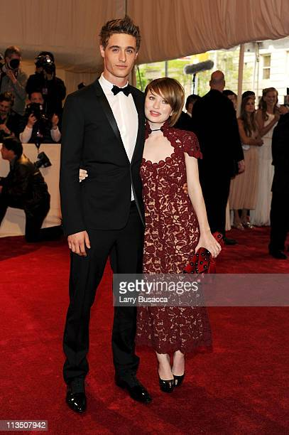Actors Max Irons and Emily Browning attend the Alexander McQueen Savage Beauty Costume Institute Gala at The Metropolitan Museum of Art on May 2 2011...