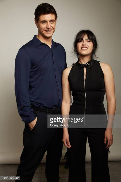 Actors Max Irons and Leem Lubany from the film Condor pose for a portrait in the Getty Images Portrait Studio Powered by Pizza Hut at the 2018 SXSW...