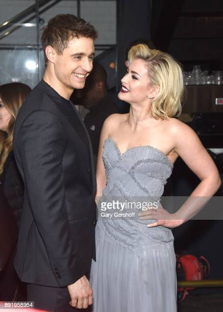 Actors Max Irons and Stefanie Martini attend the 'Crooked House' New York premiere at Metrograph on December 13 2017 in New York City
