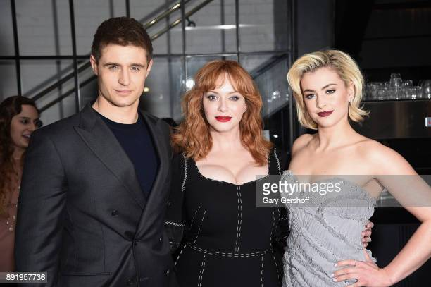 Actors Max Irons Christina Hendrix and Stefanie Martini attend the 'Crooked House' New York premiere at Metrograph on December 13 2017 in New York...