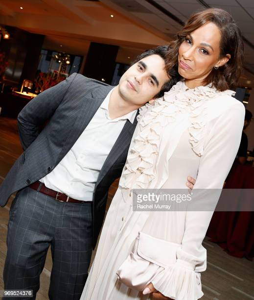 Actors Max Minghella and Amanda Brugel attend Hulu's The Handmaid's Tale FYC at Samuel Goldwyn Theater on June 7 2018 in Beverly Hills California