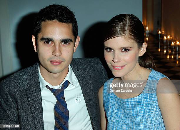 Actors Max Minghella and Kate Mara attend Joe Fresh private dinner hosted by Joe Mimran and Kate Mara at The Chateau Marmont on March 8 2013 in Los...