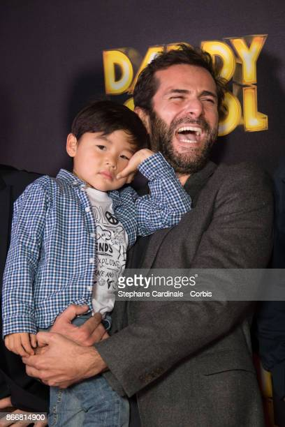 Actors Maxence ChanfongDubois and Gregory Fitoussi attend the 'Daddy Cool' Paris Premiere at UGC Cine Cite Bercy on October 26 2017 in Paris France