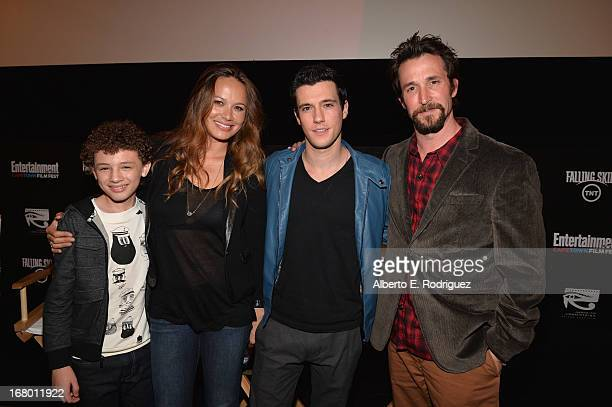 Actors Maxim Knight, Moon Bloodgood, Drew Roy and Noah Wyle attend Entertainment Weekly's CapeTown Film Festival presented by The American...
