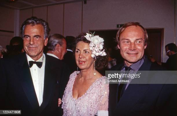 Actors Maximilian Schell and Klaus Maria Brandauer at an evening event in Duesseldorf, Germany, 1998.