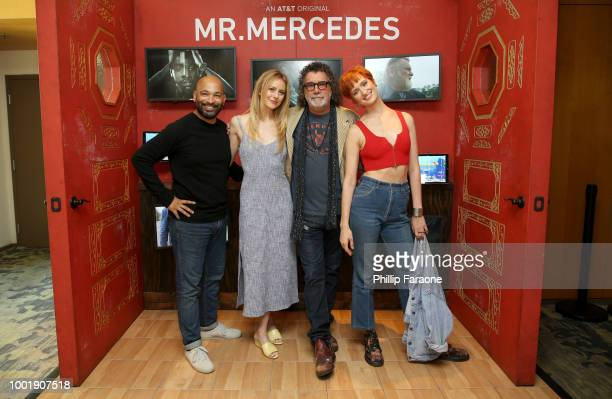 Actors Maximiliano Hernandez Justine Lupe creator Jack Bender and actor Breeda Wool of 'Mr Mercedes' attend the 2018 WIRED Cafe at Comic Con...