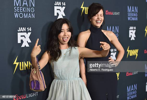 Actors Maya Erskine and Britt Lower arrive to the premiere of FXX's It's Always Sunny in Philadelphia 10th Season and Man Seeking Woman at DGA...