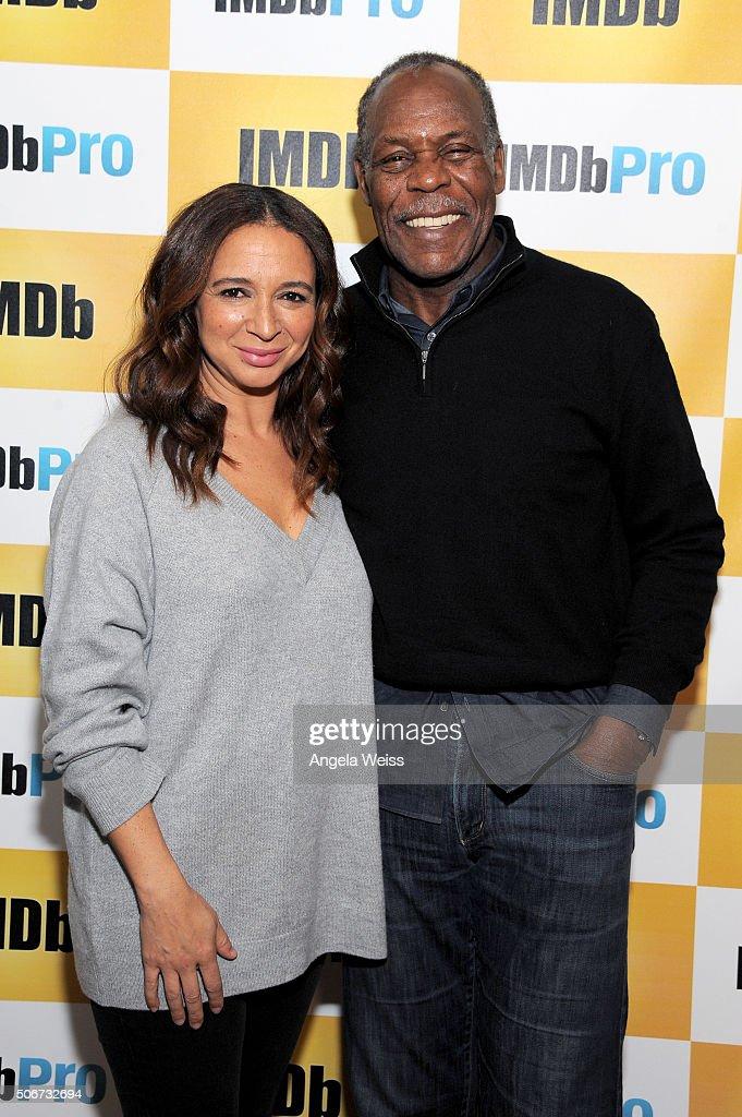 Actors Maya Rudolph (L) and Danny Glover in The IMDb Studio In Park City, Utah: Day Four - on January 25, 2016 in Park City, Utah.