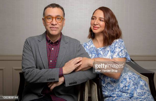 Actors Maya Rudolph and Fred Armisen are photographed for Los Angeles Times on August 29 2018 in Los Angeles California PUBLISHED IMAGE CREDIT MUST...