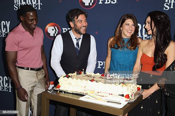 Actors McKinley Belcher III Josh Radnor Tara Summers and Hannah James attend the 'Mercy Street Season 2' panel discussion at the PBS portion of the...