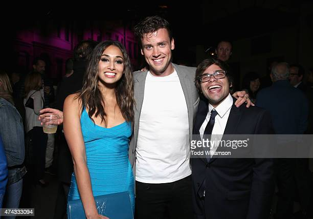 Actors Meaghan Rath Jack CutmoreScott and Charles Saxton attend the FOX Los Angeles Screenings Party 2015 on the Fox Studio Lot on May 21 2015 in Los...