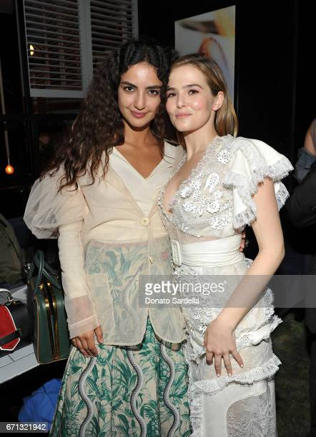 Actors Medalion Rahimi and Zoey Deutch attend Marie Claire's 'Fresh Faces' celebration with an event sponsored by Maybelline at Doheny Room on April...