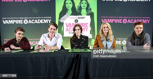 Actors meet Sami Gayle Dominic Sherwood Zoey Deutch Lucy Fry and Cameron Monaghan fans in Los Angeles on February 3 2014 in Hollywood California