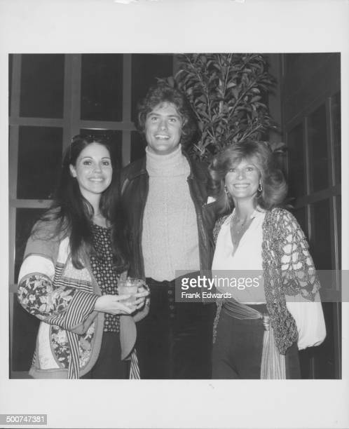 Actors Meg Bennett David Hasselhoff and Mary Frann attending the gala opening of the new Victoria Station restaurant Universal City California May...