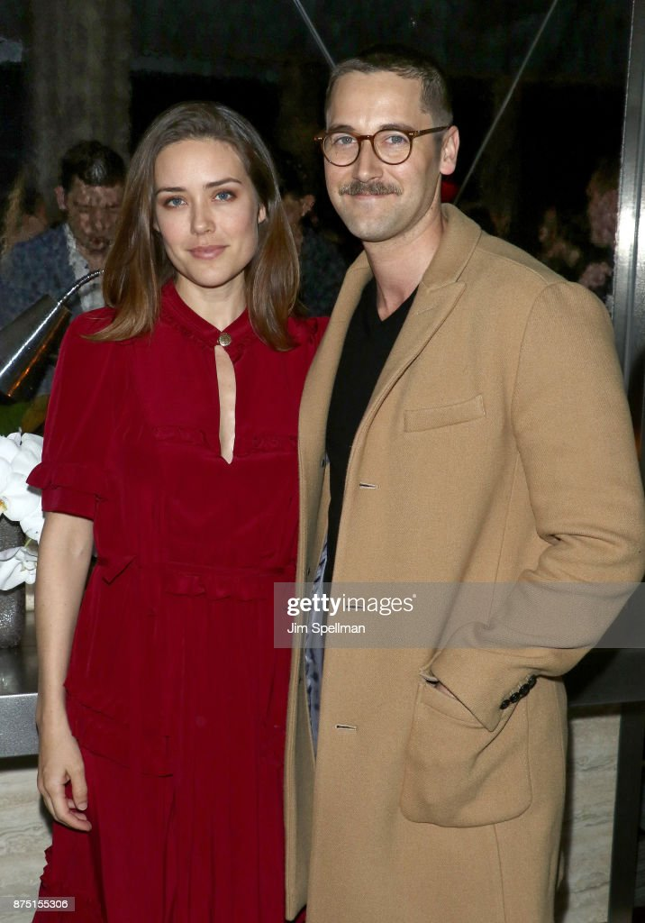 Actors Megan Boone and Ryan Eggold attend the after party for the screening of Sony Pictures Classics' 'Call Me By Your Name' hosted by Calvin Klein and The Cinema Society at Bar SixtyFive on November 16, 2017 in New York City.