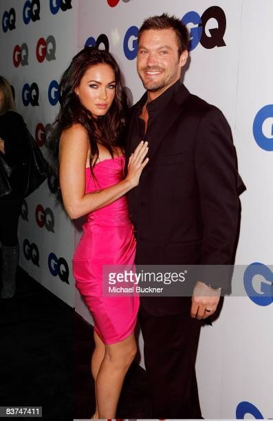 Actors Megan Fox and Brian Austin Green arrives at the GQ Men of the Year party held at the Chateau Marmont Hotel on November 18, 2008 in Los...