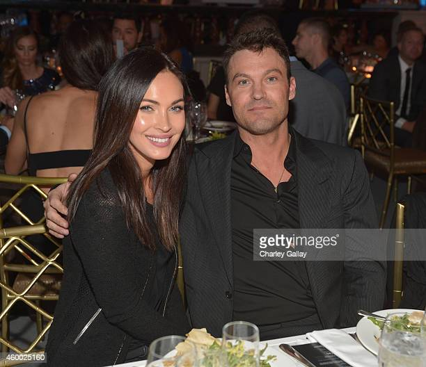 Actors Megan Fox and Brian Austin Green attend the 6th Annual Night of Generosity Gala presented by generosity.org at the Beverly Wilshire Four...