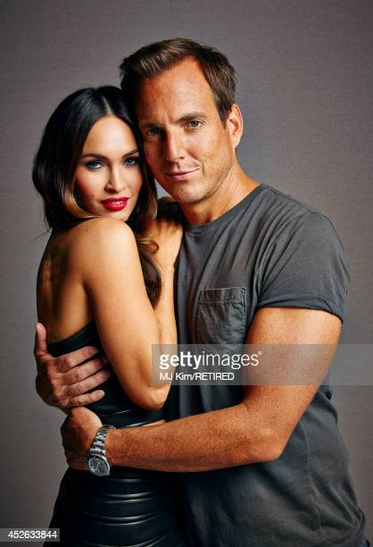 Actors Megan Fox and Will Arnett pose for a portrait at Getty Images Portrait Studio powered by Samsung Galaxy at ComicCon International 2014 at Hard...