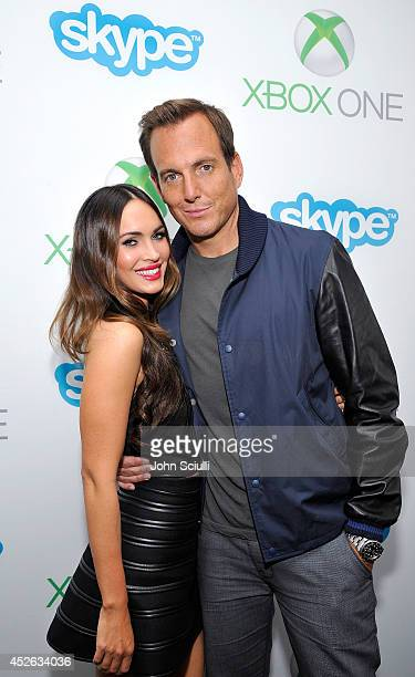 Actors Megan Fox and Will Arnett take a break from ComicCon to play Xbox One and Skype with fans in the Microsoft VIP Lounge at The Hard Rock Hotel...