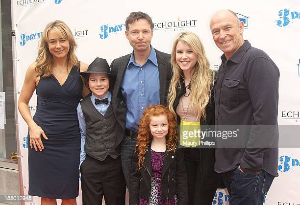 Actors Megyn Price Aidan Potter George Newbern Francesca Capaldi and Taylor Spreitler attend '3 Day Test' Los Angeles Premiere at Downtown...