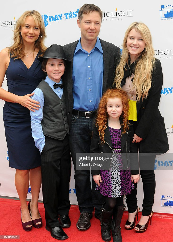 Actors Megyn Price, Aidan Potter, George Newbern, Francesca Capaldi and Taylor Spreitler arrive at the screening of '3 Day Test' held at Downtown Independent Theater on December 8, 2012 in Los Angeles, California.