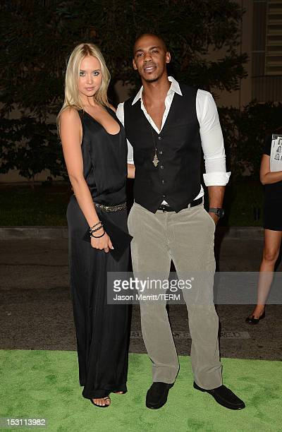 Actors Mehcad Brooks and Amalie Wichmann arrive at the 22nd Annual Environmental Media Awards on Saturday Sept 29 at Warner Bros Studios in Burbank...