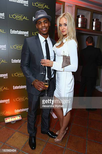 Actors Mehcad Brooks and Amalie Wichmann attend The 2012 Entertainment Weekly PreEmmy Party Presented By L'Oreal Paris at Fig Olive Melrose Place on...