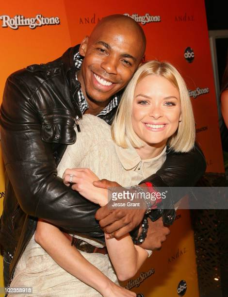 Actors Mehcad Brooks and Jaime King attend the ABC My Generation Rock the Roof event hosted by Rolling Stone Magazine at the Andaz Hotel on June 23...