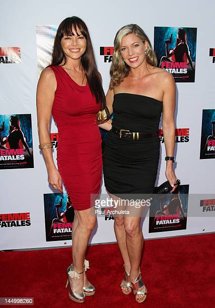 Actors Meilani Paul and Leilani Sarelle attend the screening of Cinemax's new series Femme Fatales at ArcLight Hollywood on May 21 2012 in Hollywood...