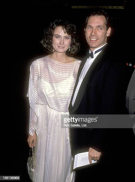 Actors Mel Harris and Cotter Smith attend the 46th Annual Golden Globe Awards on January 28 1989 at Beverly Hilton Hotel in Beverly Hills California