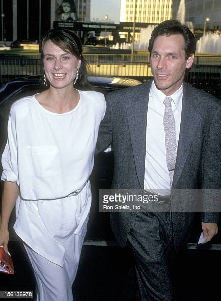 Actors Mel Harris and Cotter Smith attend the 'ABC Affiliates Party' on June 8 1988 at Century Plaza Hotel in Los Angeles California