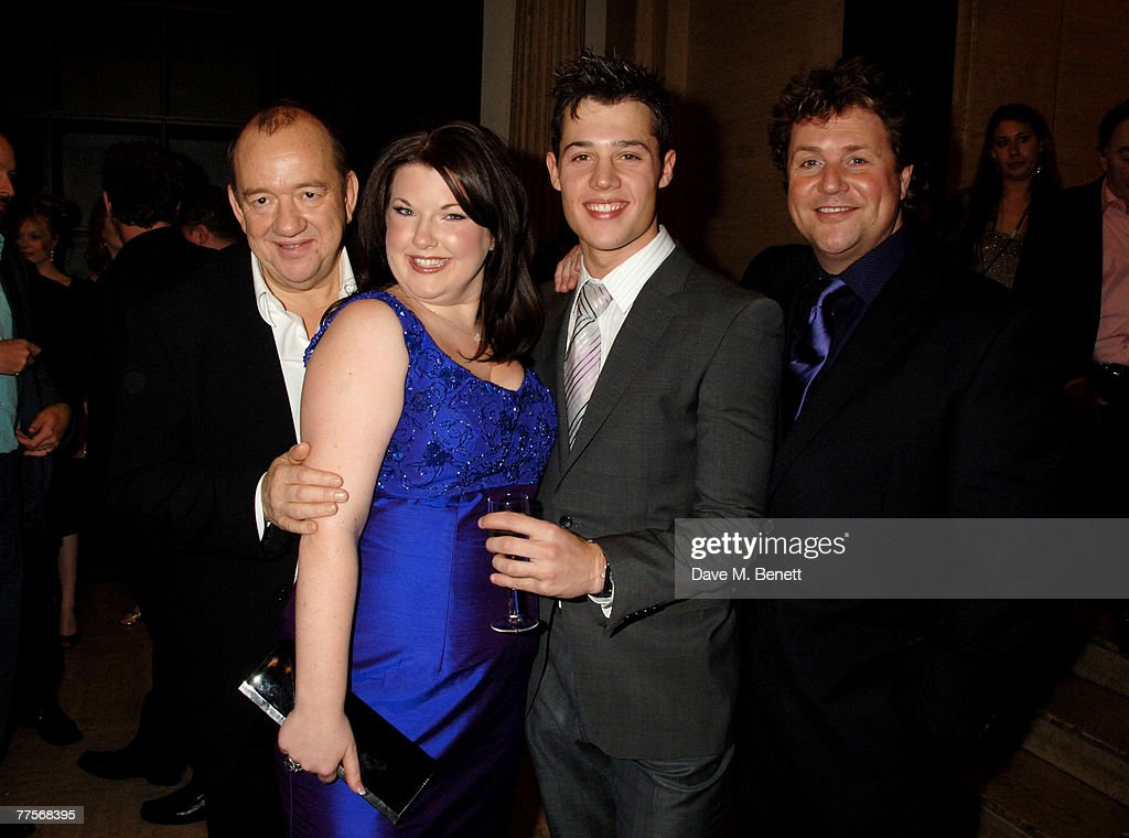 Actors Mel Smith, Leanne Jones, Ben James-Ellis and Michael Ball attend the after party following the press night of 'Hairspray' at the Bloomsbury Ballroom October 30, 2007 in London, England.