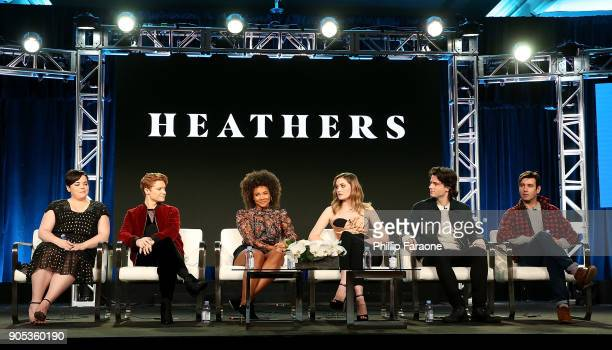 Actors Melanie Field Brenden Scannell Jasmine Matthews Grace Victoria Cox and James Scully and executive producer Jason Micallef of 'Heathers' speak...