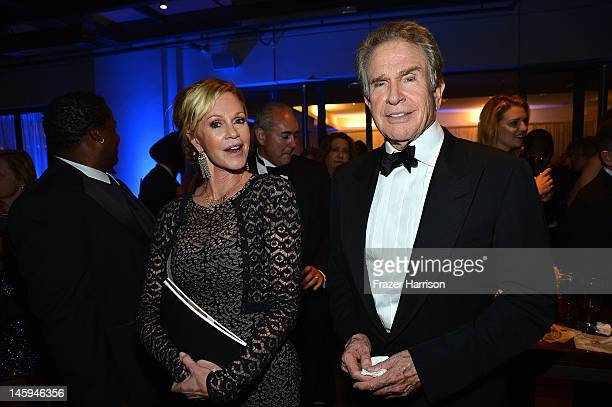 Actors Melanie Griffith and Warren Beatty attend the after party for the 40th AFI Life Achievement Award honoring Shirley MacLaine held at Sony...