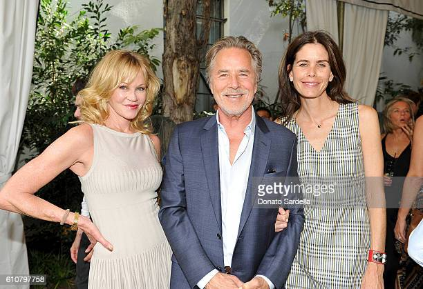 Actors Melanie Griffith Don Johnson and Kelley Phleger attend Revlon's Annual Philanthropic Luncheon at Chateau Marmont on September 27 2016 in Los...