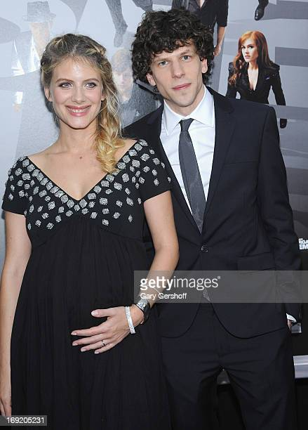 Actors Melanie Laurent and Jesse Eisenberg attend the 'Now You See Me' premiere at AMC Lincoln Square Theater on May 21 2013 in New York City