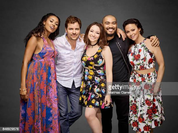 Actors Melanie Liburd, Anthony Lemke, Jodelle Ferland, Alex Mallari Jr. And Melissa ONeil from 'Dark Matter' are photographed for Entertainment...