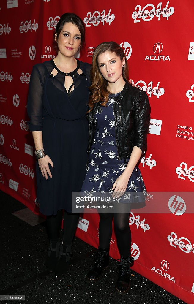 Actors Melanie Lynskey and Anna Kendrick attend the 'Happy Christmas' premiere at Library Center Theater during the 2014 Sundance Film Festival on January 19, 2014 in Park City, Utah.
